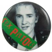 Sex Pistols - 'Johnny Green Logo' Button Badge
